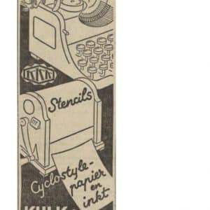 Kulk & Kramer, krantenadvertentie, 1941