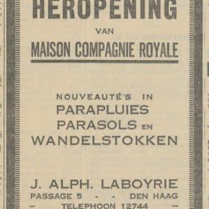 Laboyrie, paraplu's, 1930