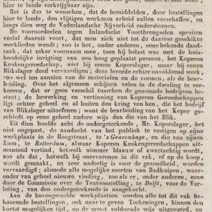 Laboyrie, koperslager, Hoogstraat, 1849