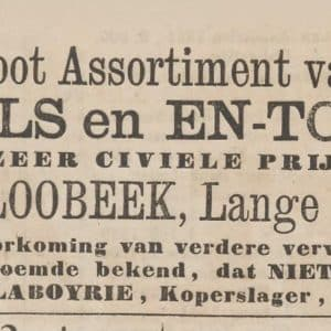 Laboyrie, parasols, advertentie, 1865