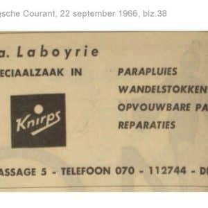 Laboyrie, parapluwinkel, 1966