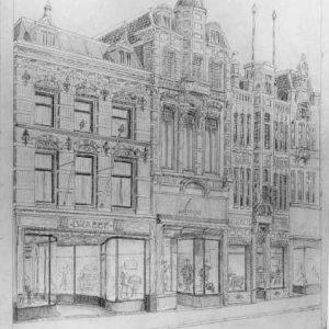 Winkel Lampe, tekening, ca. 1950
