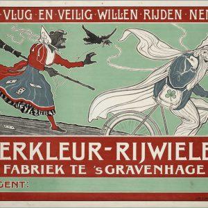 Lankhout, affiche De Vierkleur, ca. 1905