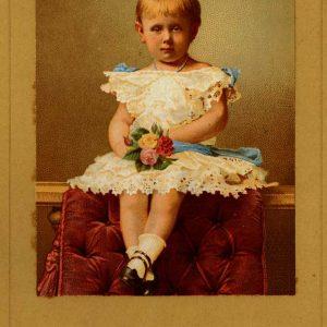 Lankhout, litho prinses Wilhelmina, 1883