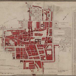 Lankhout, drukwerk plattegrond Den Haag, 1864