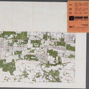Levisson, plattegrond Den Haag, litho, 1971