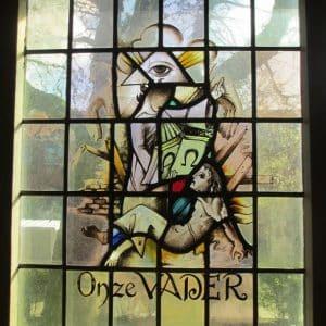 Liefkes, glas-in-lood-raam, Rijnsburg. 1954
