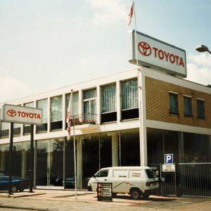 Louwman, autoshowroom, Binckhorstlaan 209-215, jaren 90