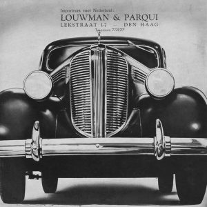 Louwman, auto-import, Rijnstraat, 1938
