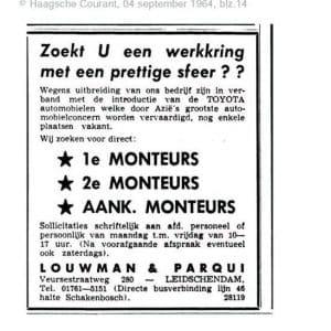 Louwman, Toyotadealer, Veursestraatweg, Leidschendam, 1964