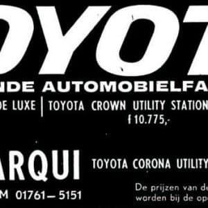 Louwman, Toyotadealer, Veursestraatweg, Leidschendam, jaren 70