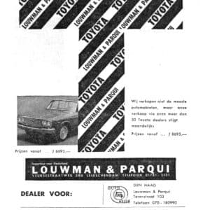 Louwman, Toyotadealer, Veursestraatweg, Leidschendam, jaren 60