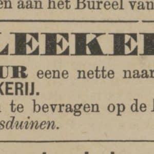 Maairust, advertentie, 1886