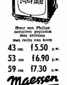 Maessen, advertentie televisie, 1961