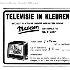 Maessen, advertentie televisie, 1956