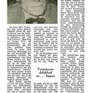 Vijf Vocalen, Mensingh Visser, Kneuterdijk, 1954