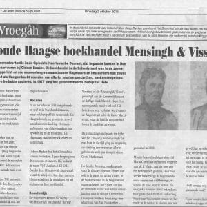 Vijf Vocalen, Mensingh Visser, Kneuterdijk, 2018