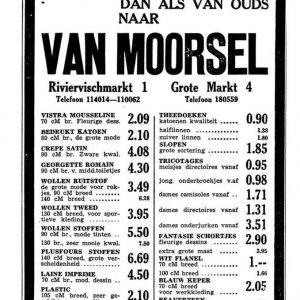 Van Moorsel_ advertentieaanbieding met nieuwe textielpunten, 1948