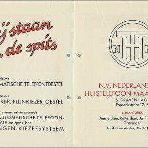 NHTM, Huistelefoon, Frederikstraat 17-19, jaren 30