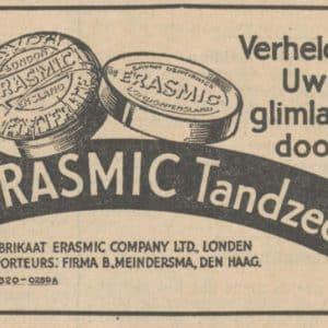 Advertentie Meindersma, 1934