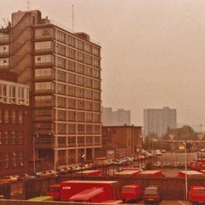 RAC, 1e van der Kunstraat, postwagens, 1982