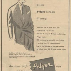 Pelger, advertentie, 1954