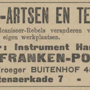 Advertentie, Pohl Franken uit 1924