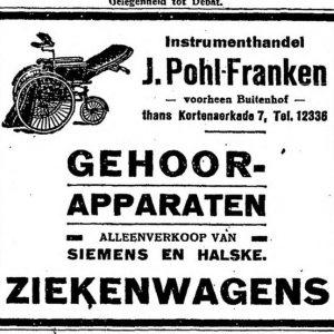 Advertentie Pohl-Franken, 1925