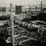 RAC, bouw werkplaats, 1e van der Kunstraat, ca. 1938