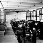 RAC, bouw werkplaats, 1e van der Kunstraat, jaren 30