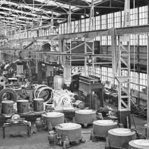 Reineveld, fabriekshal, montage-afdeling, 1953