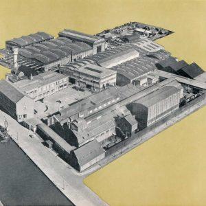Reineveld, fabriekscomplex aan de Vliet bij Delft