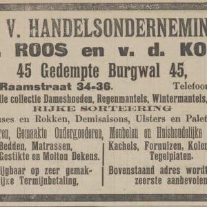 Roos & van der Kolk, handelsonderneming, 1912