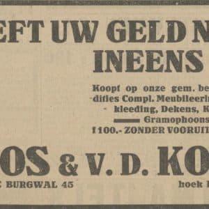 Roos & van der Kolk, handelsonderneming, 1926