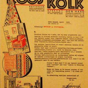 Roos van der Kolk, meubelen, Gedempte Burgwal 45, reclame, 1935