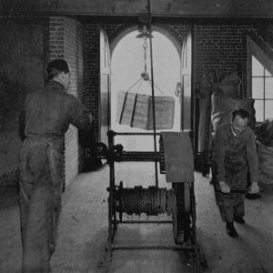 Schilte, takelen tabak, Nieuwstraat, 1943