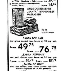 Schnitzler, advertentie, Schoolstraat, 1954
