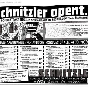 Schnitzler, bedden, uitbreiding Schoolstraat 18, 1959