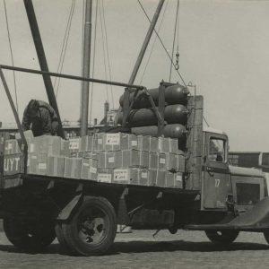 Van der Schuijt, beurtvaart, vrachtwagen, Fijnjekade, 1941