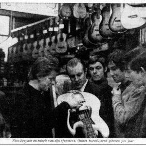 Servaas, muziekwinkel, Schoolstraat, 1966