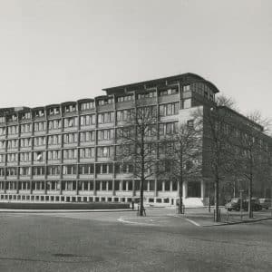 Shell uitbreiding, Roosenburg, van Bylandtlaan, 1955