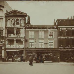 Simonis, bedden, Groenmarkt, ca. 1910