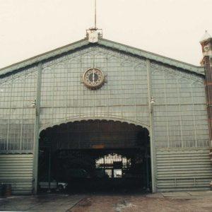 Gemeentelijk Openbaar Slachthuis, verbindingshal, 1986