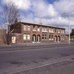 Gemeentelijk Openbaar Slachthuis, dienstwoningen, Slachthuislaan, ca, 1990