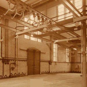 Slachthuis, runderslachthal, 1911