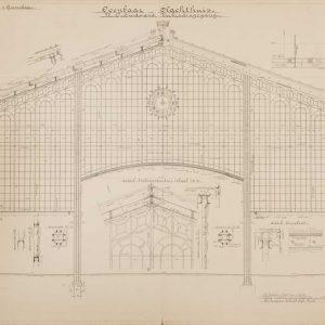 Gemeentelijk Openbaar Slachthuis, verbindingskap, 1908