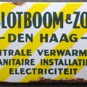 Reclame, W. Slotboom & Zoon, Zeestraat, jaren 30