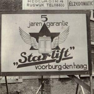 Starlift, westvlietweg, Leidschendam, reclame, jaren 30