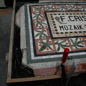 Terrazzo reclameplaat Cristofoli