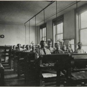 Het Vaderland, Parkstraat, zetterij, ca1890